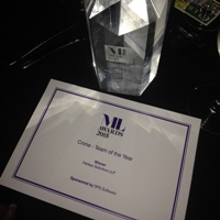 Manchester Crime team of the year award