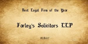 Lancashire Business Awards Legal Company of the Year
