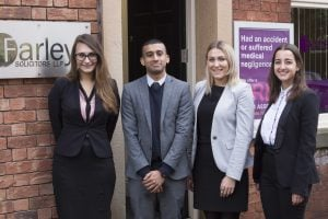Trainee Solicitors Monika Marcinkeviciute, Adil Anwar, Stevi Hoyle & Ariella Jones