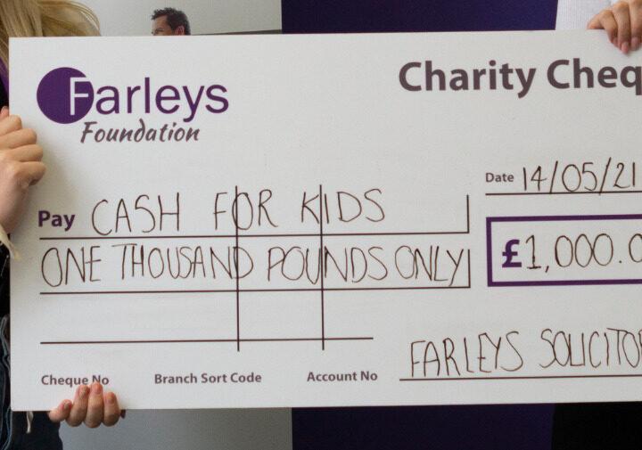 farleys cheque